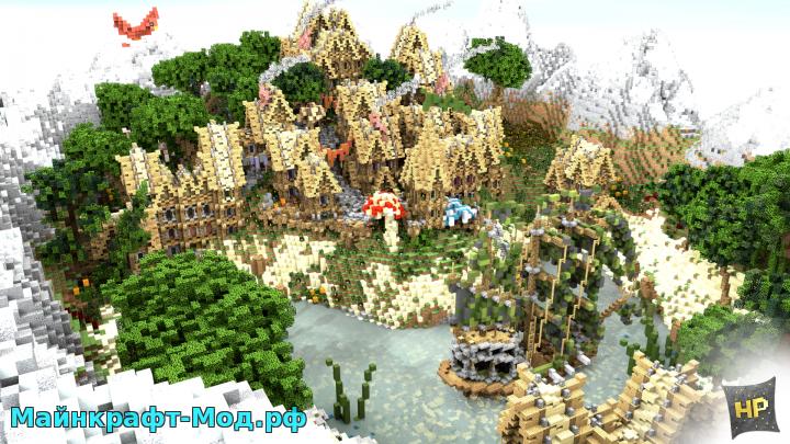 Minecraft 1.8 код на деревню