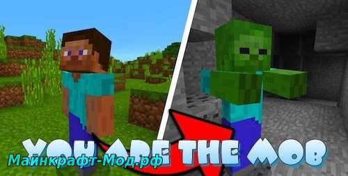Мод You Are The Mob для Minecraft 1.12.2