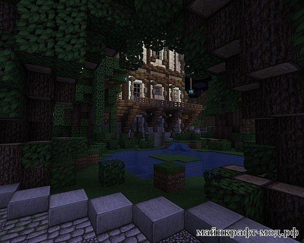 Lobby-Medieval-City, город лобби с вечерним городом