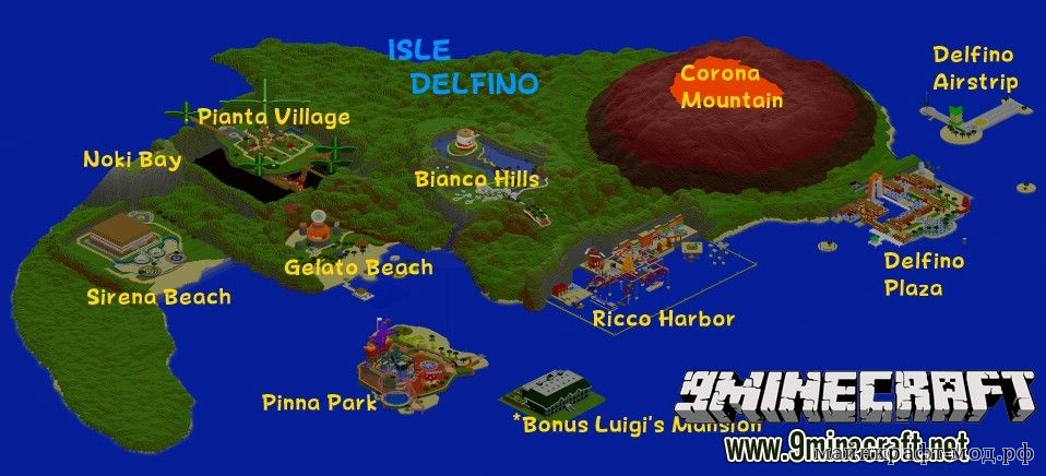 Карта Супер марио для Майнкрафт