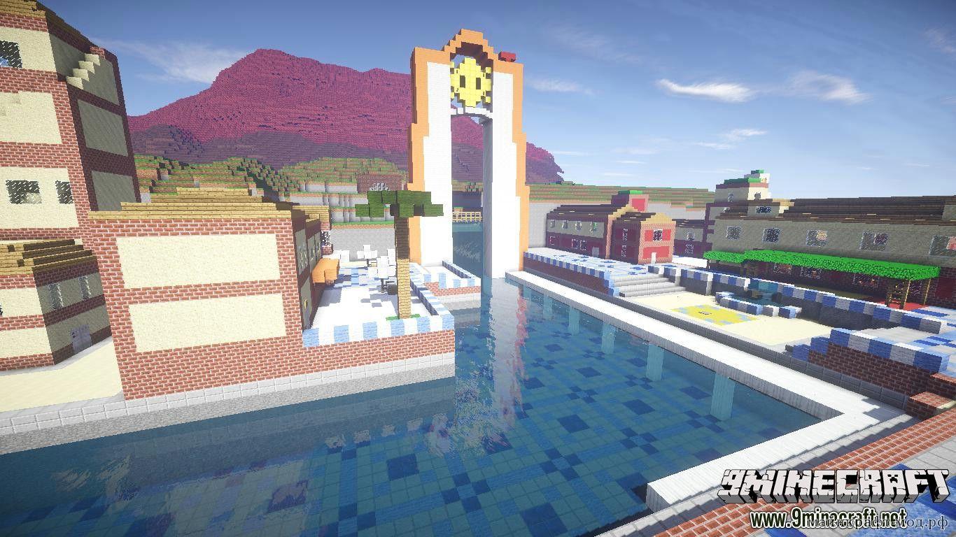 Карта Super Mario для Майнкрафт