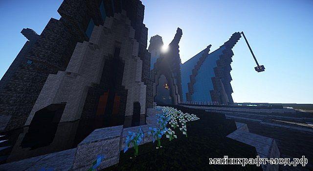 Elvish Keep огромный замок для майнкрафт