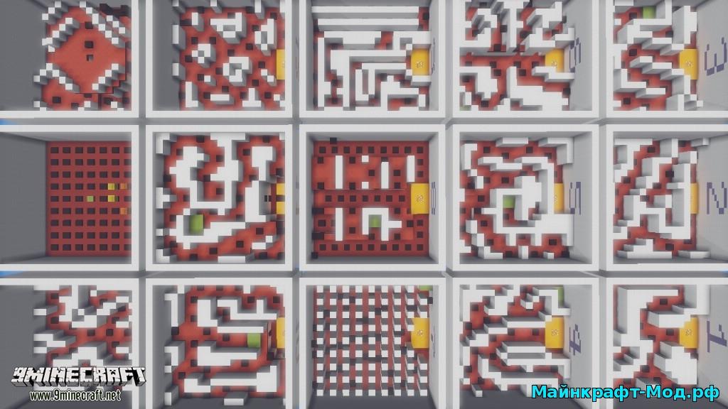 Карта на прохождение 45 секунд для Майнкрафт