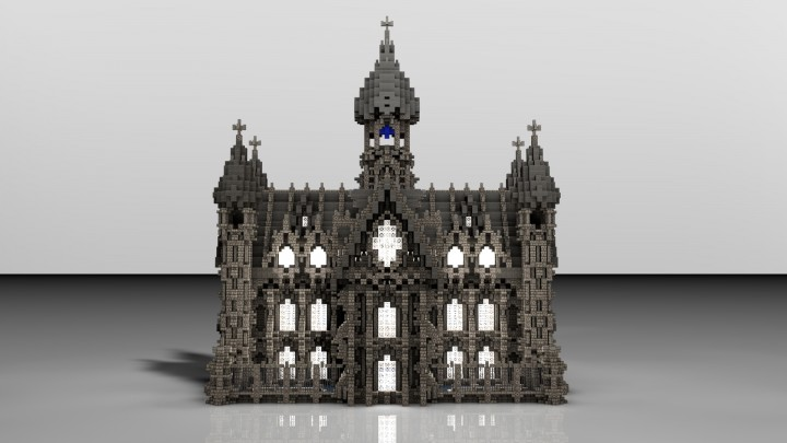 Большой дворец на Minecraft