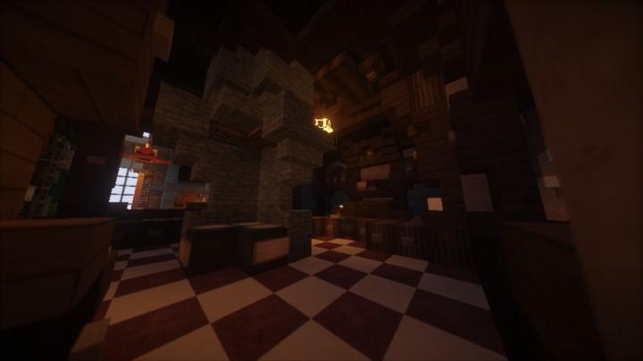 Дом с камином для Майнкрафт