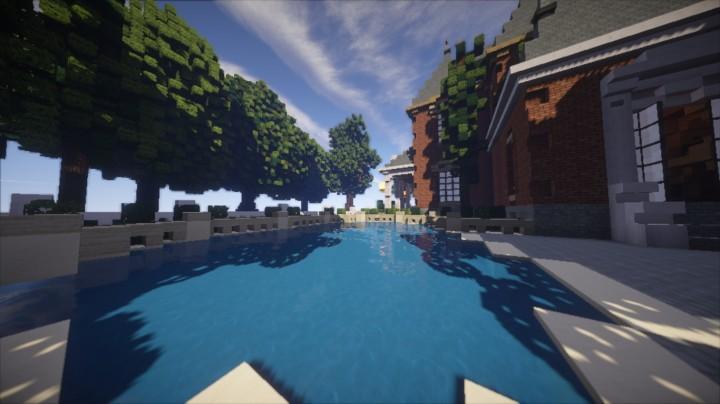Дом с бассейном для Майнкрафт