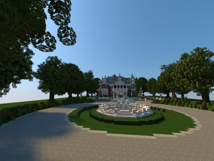 Minecraft карта белый дом