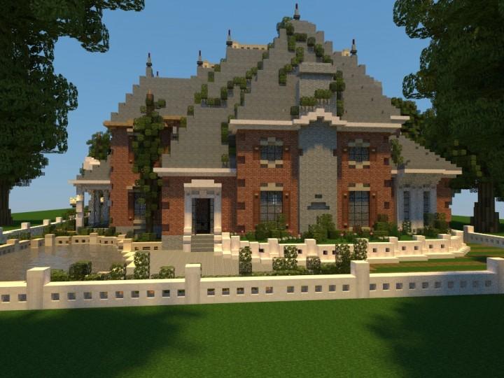 Большой красивый дом на Майнкрафт