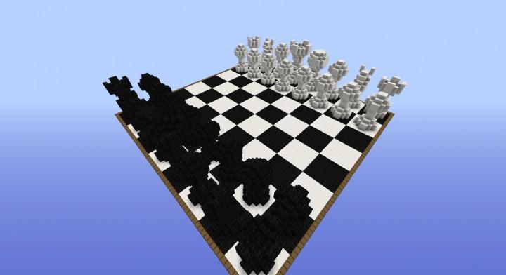 Карта 3D шахматы Майнкрафт