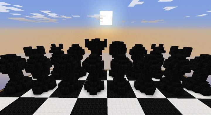 Minecraft карта 3Д шахматы