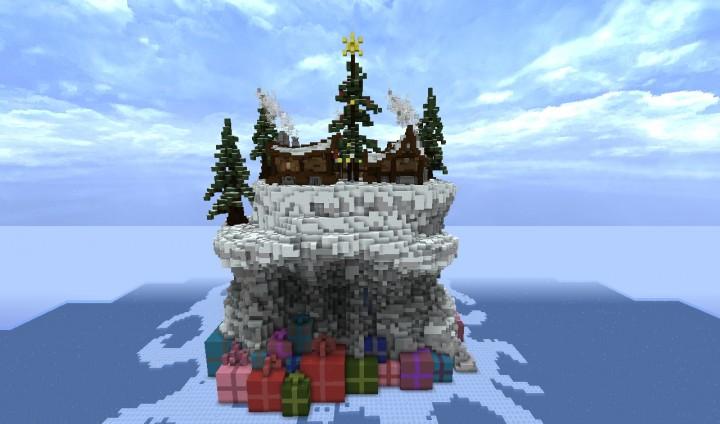 Карта новогодний дом для Майнкрафт
