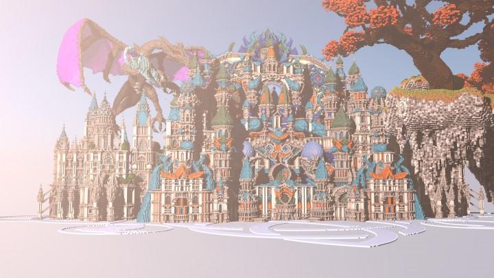 Карта замок на Майнкрафт