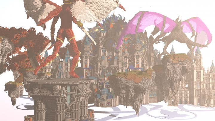 Карта с замком на Minecraft