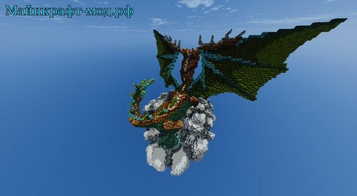 карта мир драконов на майнкрафт