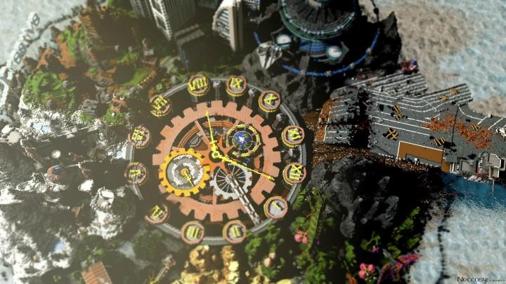 Карта город на Майнкрафт