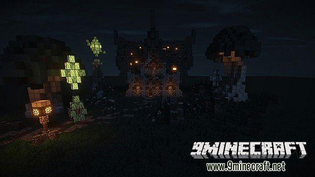 Красивый средневековый дом на Майнкрафт