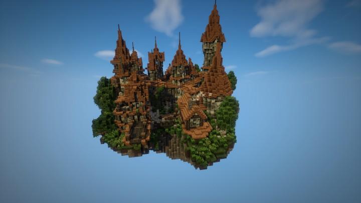 Город под небом для Майнкрафт