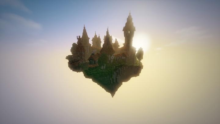 Замок в небе на Майнкрафт Карта