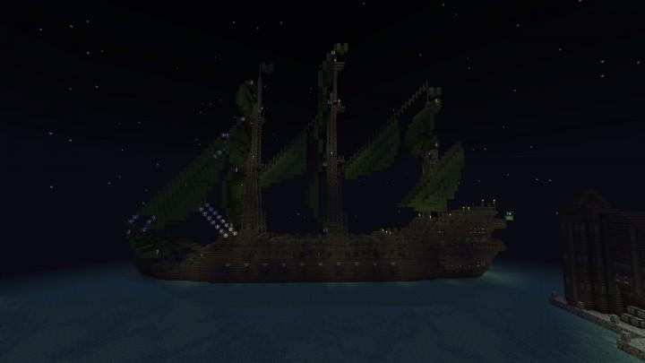 Призрачное судно на Майнкрафт