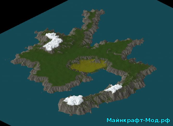Майнкрафт карта лес