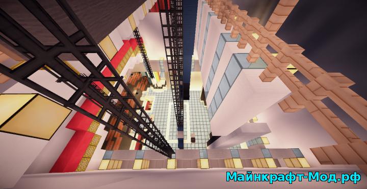 Майнкрафт карта современный город