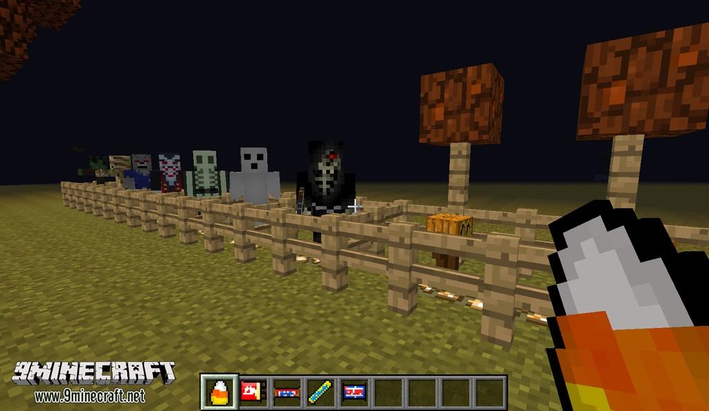 Мод на хеллоуин для Minecraft