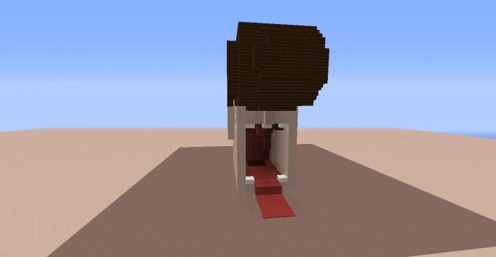 Карта дом в виде головы на Майнкрафт