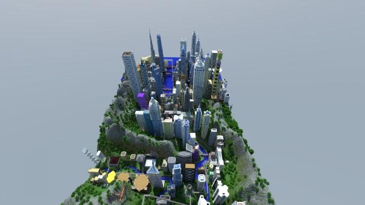 Большой город на Майнкрафт