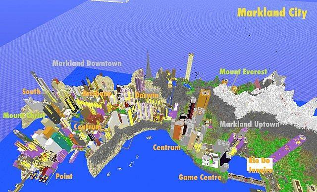 Minecraft карта большой город