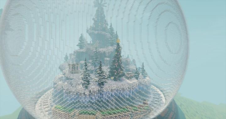Новогодняя карта с Дедом морозом для Майнкрафт