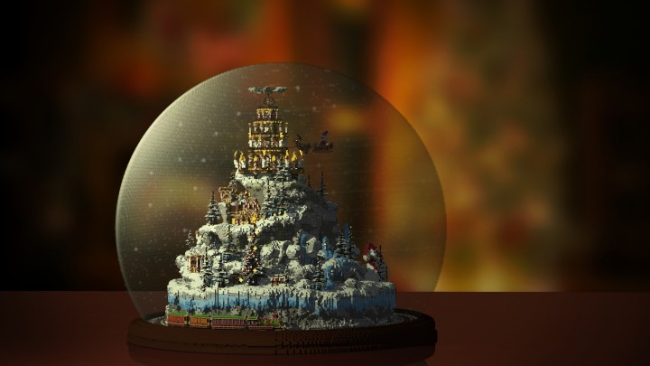 С Новым годом карта для Майнкрафт
