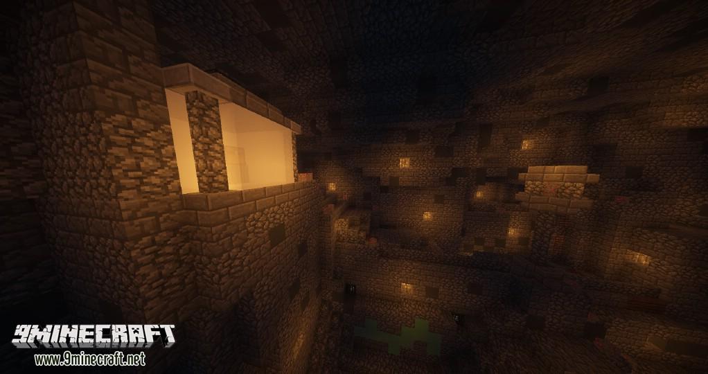 Майнкрафт карта шахта