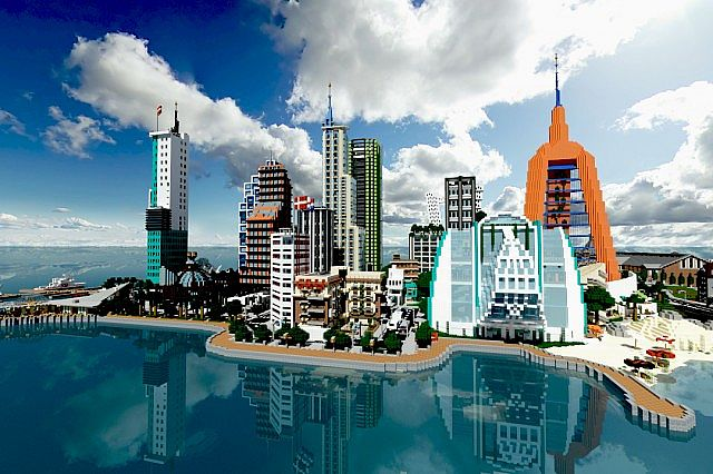 Современный город для Майнкрафт