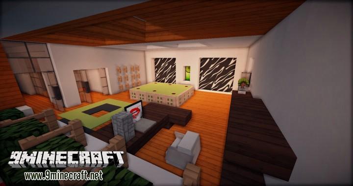Дом с бассейном на Майнкрафт