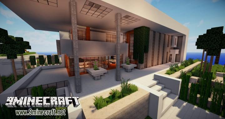 Современный дом на Майнкрафт