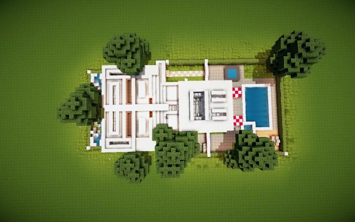 Дом с мансардом для Майнкрафт