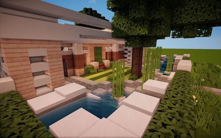 Современный особняк карта Minecraft