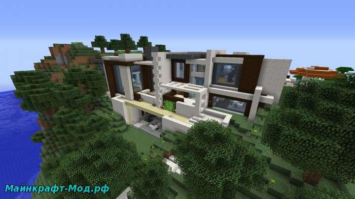 Механический дом в майнкрафт ссылка на карту постройки.