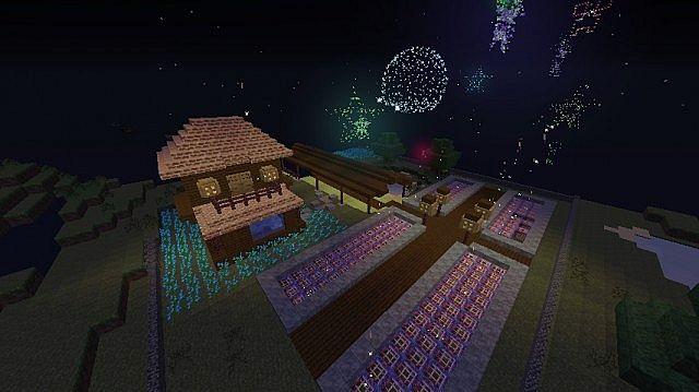 Новогодняя карта для Майнкрафт