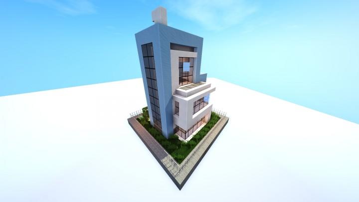 Дом выполненный в ретро стиле на Майнкрафт