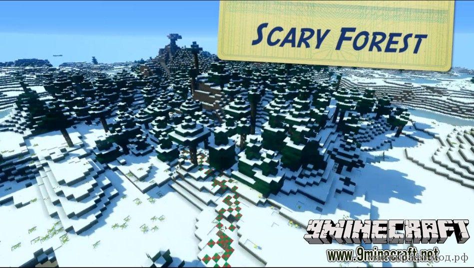 Новогодняя карта на прохождение Minecraft