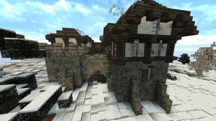 Карта маленький замок для Minecraft