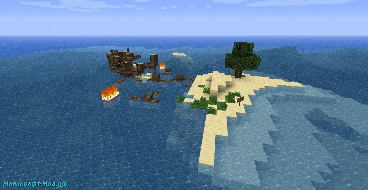 Карта остров выживания на Майнкрафт
