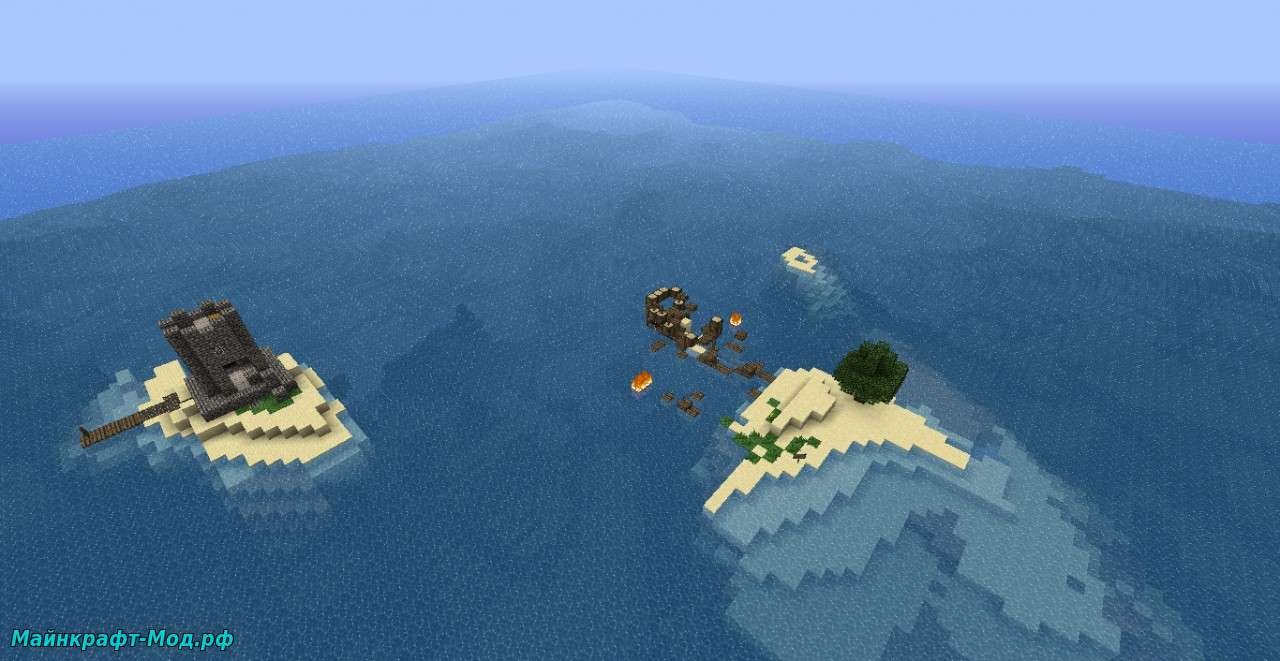 Карта Остров на выживание Майнкрафт