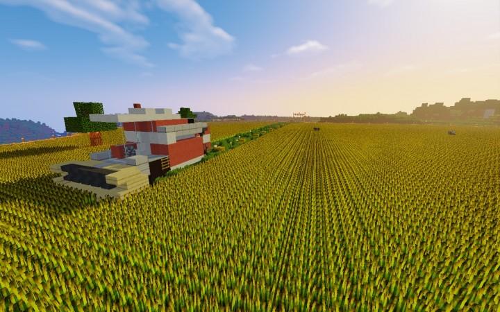 Майнкрафт карта ферма
