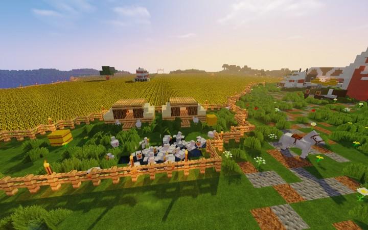 Minecraft карта ферма