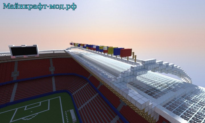 Футбольный стадион карта на майнкрафт