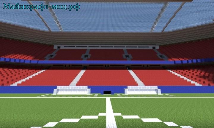 Карта футбольное поле на Майнкрафт