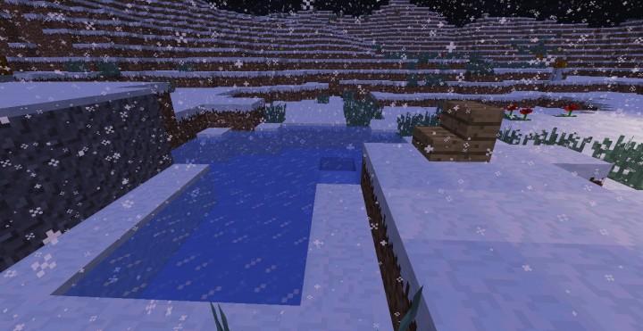 Зимний коттедж на Майнкрафт