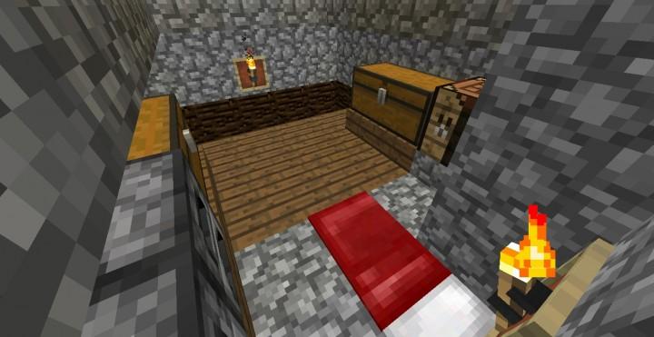 Дом с конюшней для minecraft